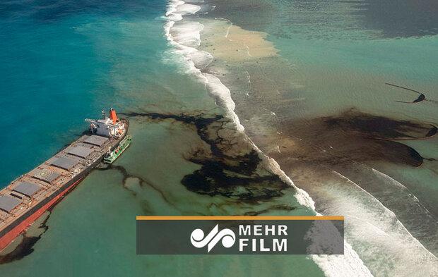 نشت نفت در آبهای  اقیانوس هند