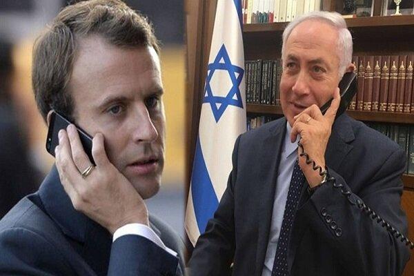 گفتگوی تلفنی نتانیاهو و ماکرون با محوریت لبنان