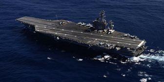 ورود ناو هواپیمابر «یواساس نیمیتز« به خلیج فارس