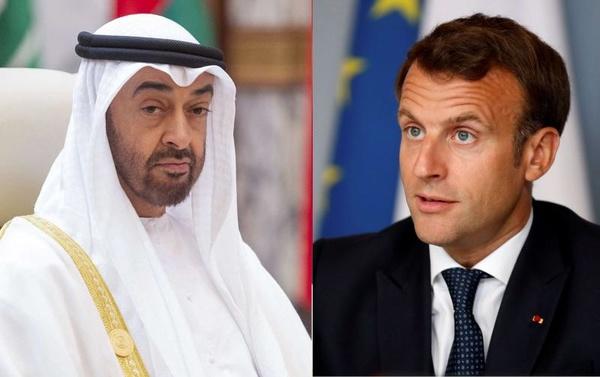 گفتوگوی تلفنی ولیعهد ابوظبی و رئیسجمهوری فرانسه