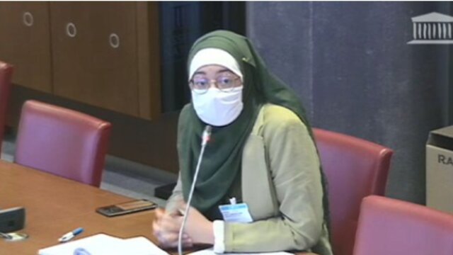 دانشجوی محجبه جلسه پارلمان فرانسه را به هم ریخت