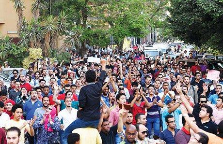 تظاهرات در سراسر مصر با درخواست برکناری سیسی
