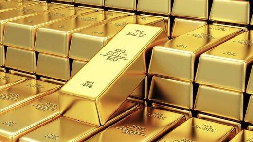سقوط 10.2دلاری قیمت طلا در بازار جهانی/ کاهش 96.3 دلاری قیمت طلا در یک ماه