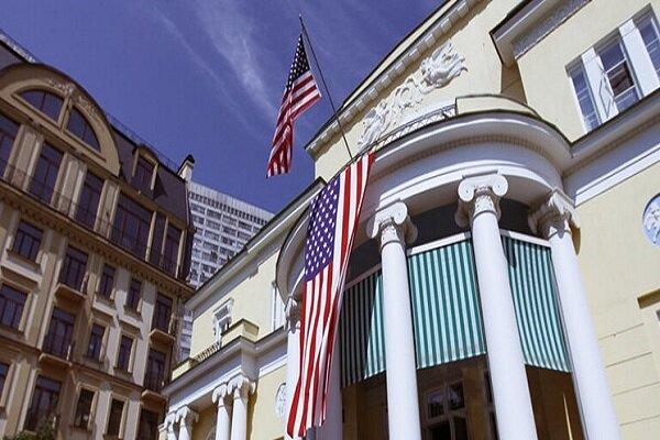 برخورد یک خودرو به ساختمان سفارت آمریکا در روسیه