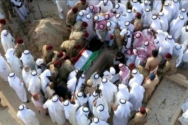 پیکر شیخ صباح به خاک سپرده شد
