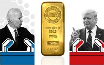 سقوط طلا در چند قدمی انتخابات آمریکا/`قیمت اونس در کف یک ماهه
