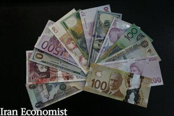 نرخ رسمی ۴۷ ارز برای امروز اول آبان
