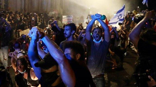 تظاهرات صدها اسرائیلی در تلآویو و قدس علیه نتانیاهو