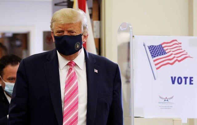 ترامپ رای خود را حضوری به صندوق انداخت