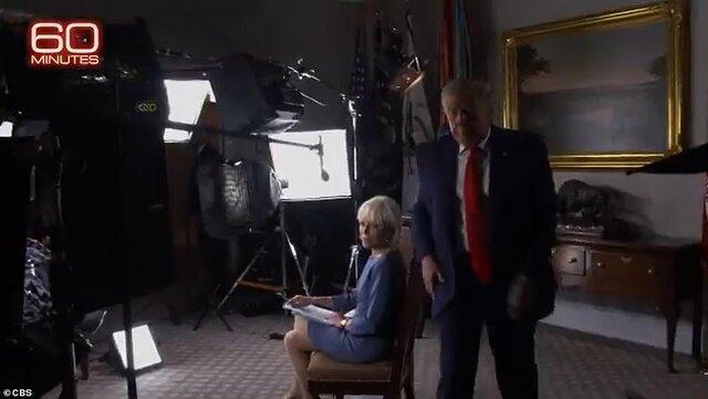 سیبیاس لحظه ترک مصاحبه توسط ترامپ را منتشر کرد