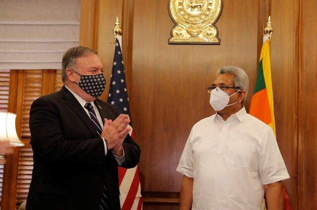 انتقاد پامپئو از حضور چین در سریلانکا