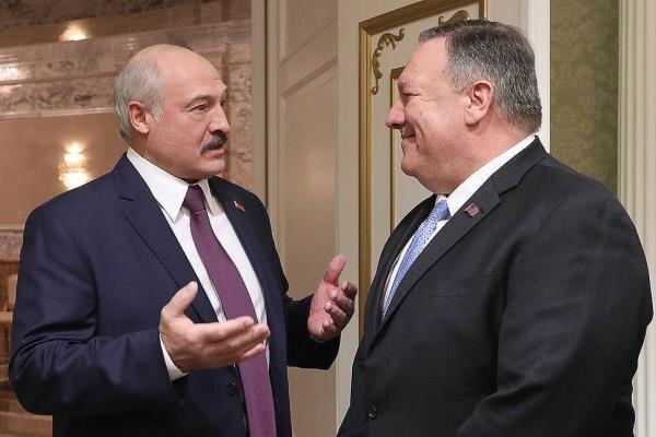 «مایک پمپئو» و رئیس جمهور بلاروس تلفنی گفتگو کردند