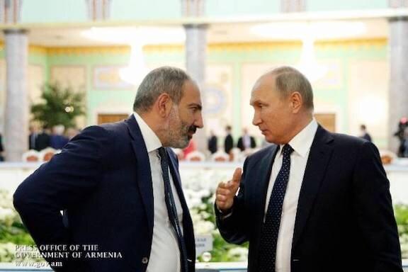 پاشینیان: پوتین بر لزوم استقرار صلحبانان روس تاکید کرد