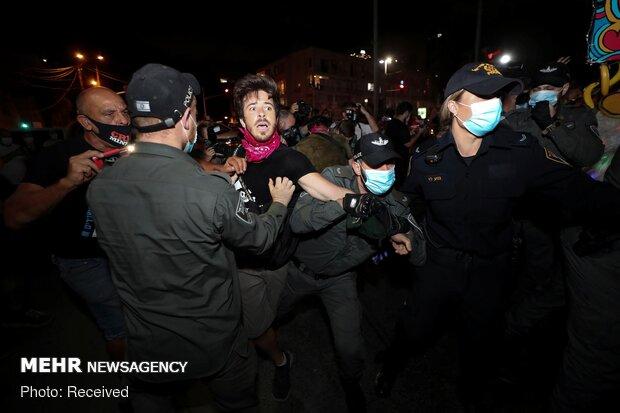 صهیونیستها برای بیست و دومین هفته متوالی به خیابانها آمدند