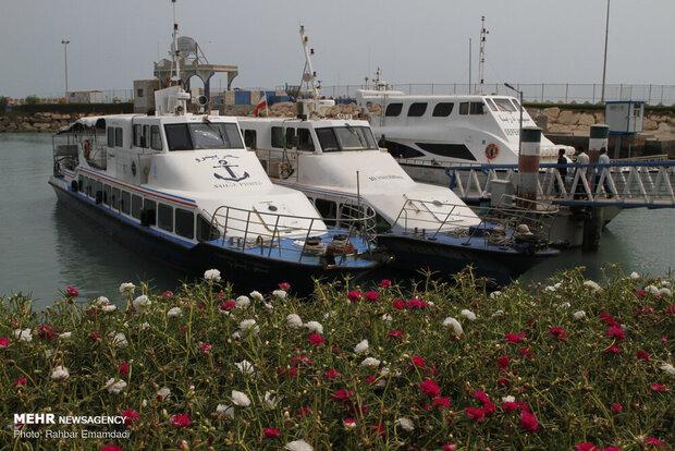 تردد دریایی در بنادر مسافری هرمزگان متوقف شد