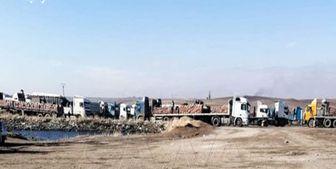 سرقت 70 کامیون نفت و گندم سوریه توسط آمریکا