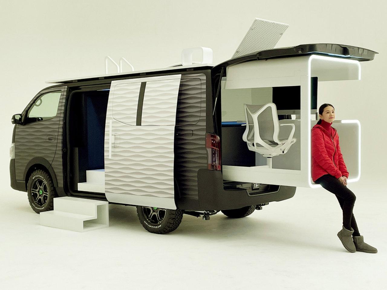 کانسپت نیسان NV350 Office Pod معرفی شد؛ یک دفتر کار متحرک برای دورکاری
