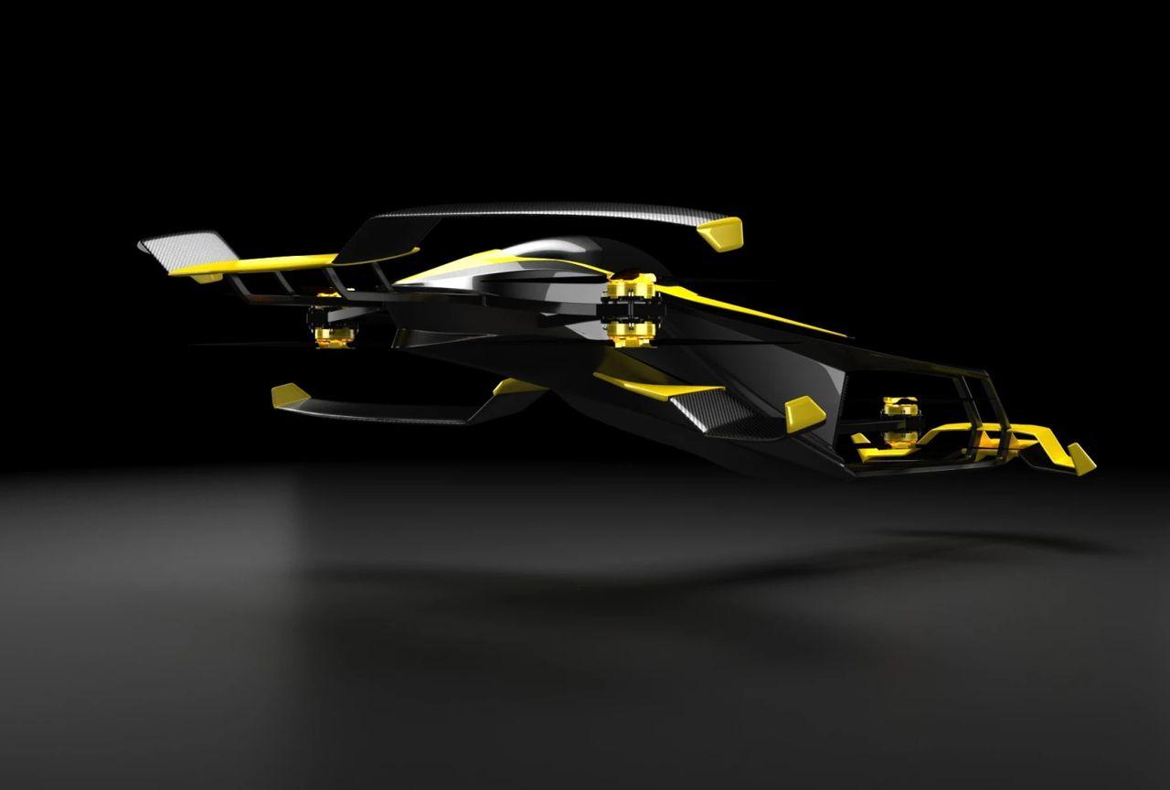 با کانسپتر کارکاپتر آشنا شوید؛ یک خودروی هیدروژنی پرنده برای مسابقات اتومبیلرانی