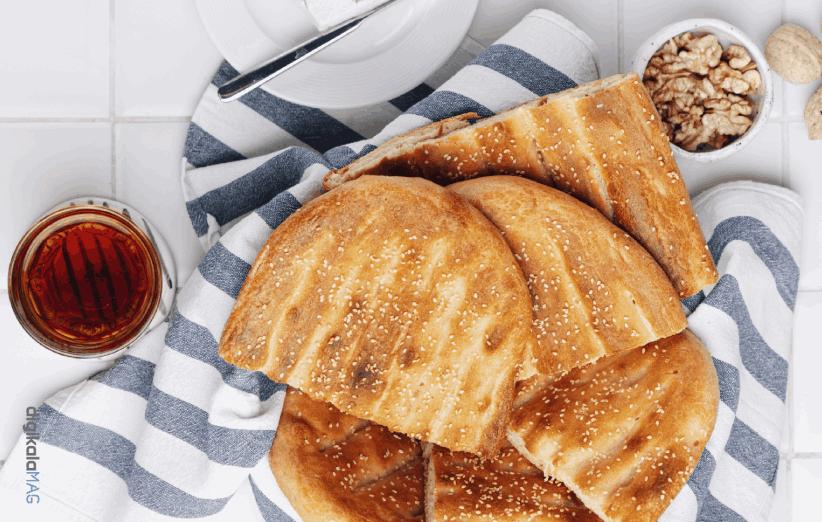 طرز تهیه نان بربری سنتی در فر