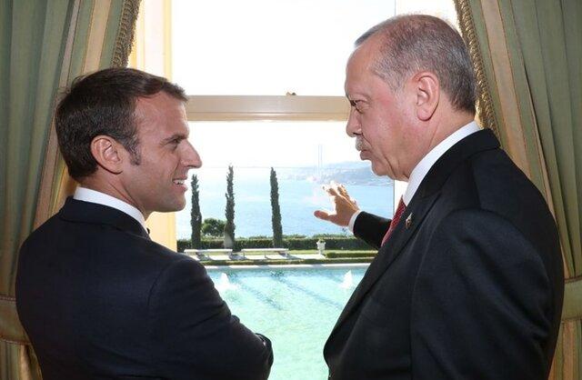 پیام دوستانه ماکرون به اردوغان