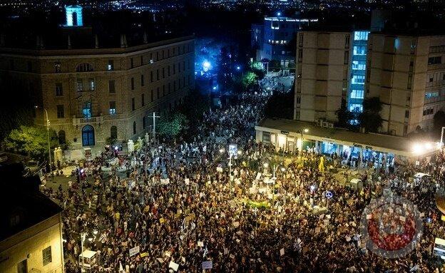 تظاهرات گسترده در مناطق مختلف اراضی اشغالی علیه نتانیاهو