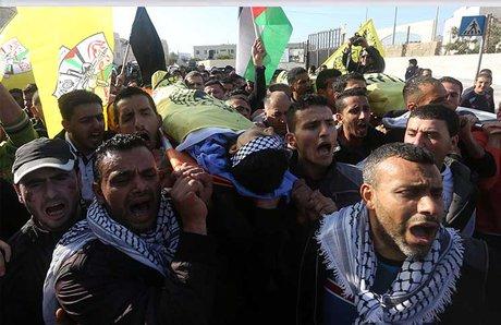 شهادت یک فلسطینی در حمله صهیونیستها در کرانه باختری