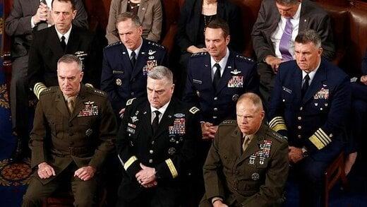 بیانیه مشترک فرماندهان ارشد ارتش آمریکا در آستانه تحلیف بایدن