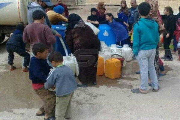 نظامیان ترکیه آب آشامیدنی شهر «الحسکه» را قطع کردند