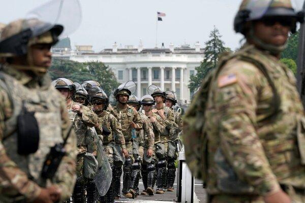 سوابق نیروهای گارد ملی مستقر در واشنگتن بررسی می شود