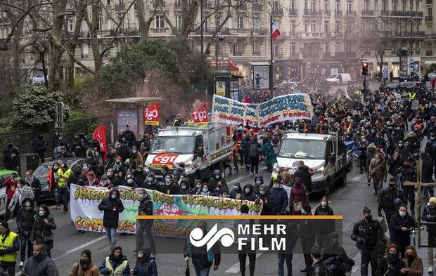 اعتراضات فرانسویها علیه بیکاری