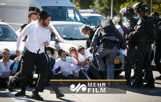درگیری پلیس اسرائیل با یهودیان تندرو مذهبی بر سر قوانین کرونایی