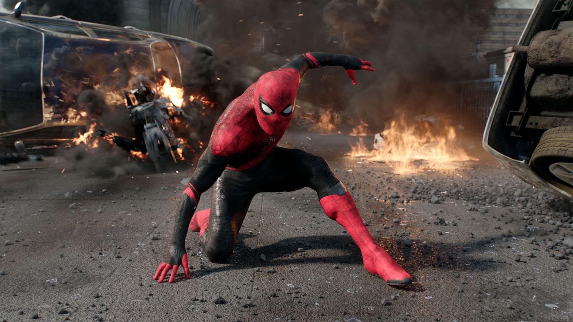 تصاویر جدید فیلم Spider-Man 3 تام هالند را در لباس قرمز و سیاه مرد عنکبوتی نشان میدهد