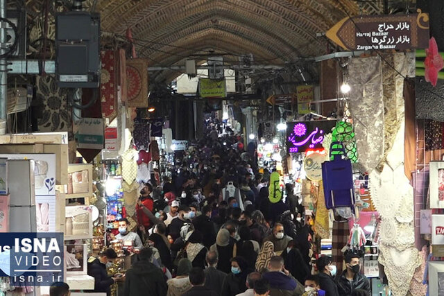 ویدئو / تداوم جنگ معیشت و کرونا در بازار تهران