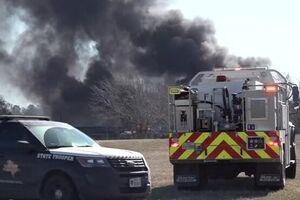 انفجار بزرگ در پی برخورد قطار و تریلی در تگزاس +فیلم