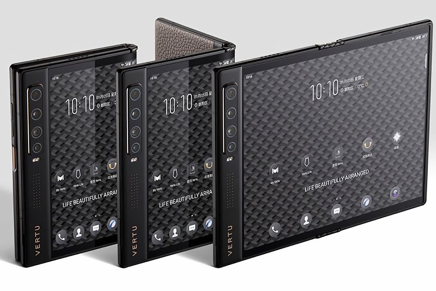 ورتو از گوشی تاشوی Ayxta Fold 5G با قیمت ۷۰۰۰ دلار رونمایی کرد