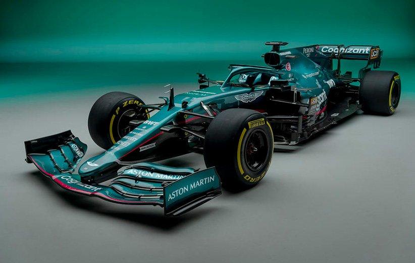 استون مارتین از خودروی آیرودینامیکی خود برای فصل ۲۰۲۱ فرمول یک رونمایی کرد
