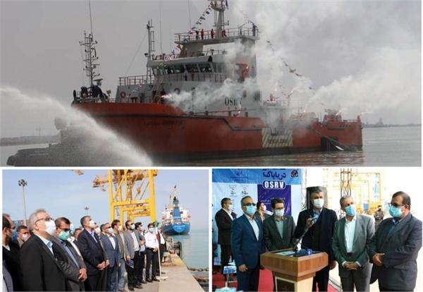 شناور ایرانی دریا پاک به آب انداخته شد/ صرفهجویی ۲۱ میلیون یورویی با داخلیسازی