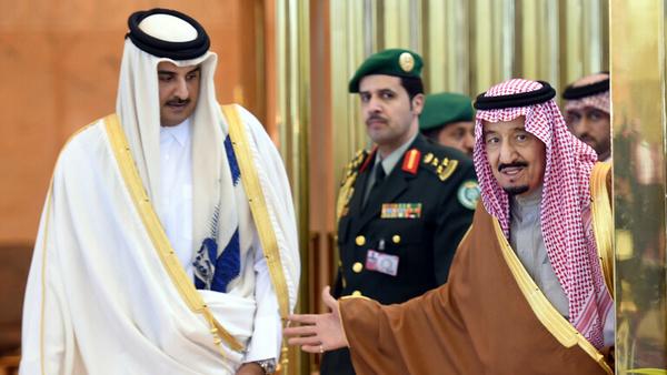 پیام پادشاه عربستان به امیر قطر