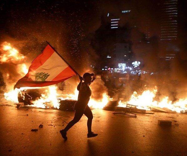 اعتراضات در لبنان برای سومین روز متوالی