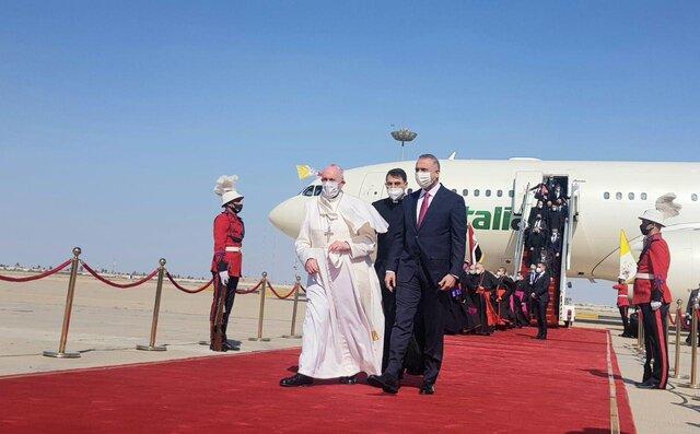 پاپ وارد بغداد شد+ عکس