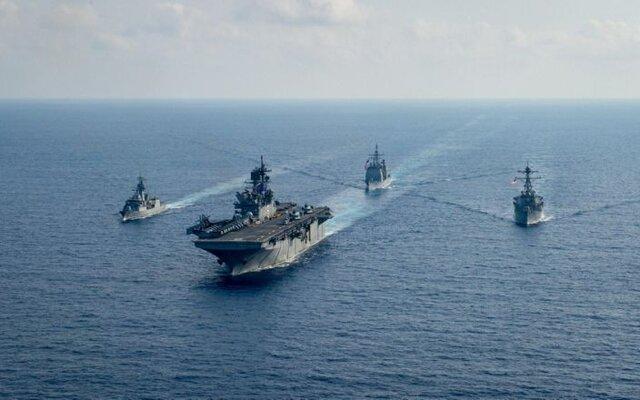 گشتزنی کشتیهای جنگی و ناوچههای فرانسوی در دریای چین جنوبی