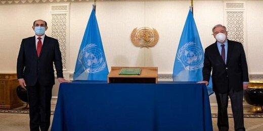 گوترش به سفیر سوریه: سلام گرم مرا به بشار اسد برسان
