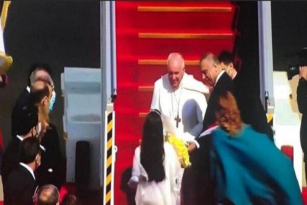 ورود پاپ به عراق و استقبال الکاظمی از وی