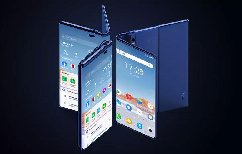 جدیدترین گوشی مفهومی TCL هم رولشونده است و هم تاشونده