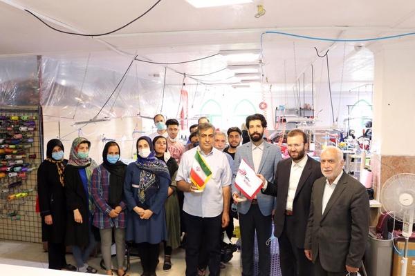 """بازدید اعضاء هیأت مدیره اتحادیه پوشاک تهران از کارگاه تولیدى برند """"برمودا""""+ فیلم و عکس"""