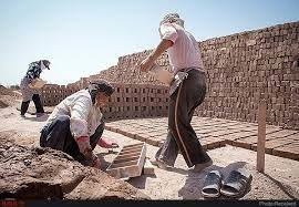 تولید در کوره آجرپزی ارسنجان فارس با ۴۰ کارگر از سر گرفته شد