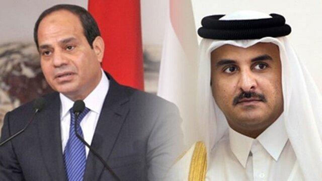سیسی و امیر قطر پیام تبریک رد و بدل کردند