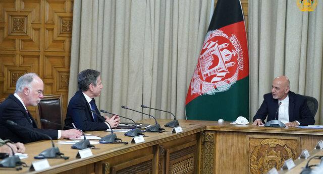 غنی در دیدار با بلینکن: نیروهای ما به تنهایی قادر به دفاع از افغانستان هستند