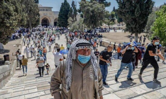 ادامه تعرض صهیونیستها به مسجد الاقصی در ماه رمضان