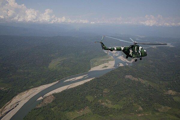 سقوط بالگرد نظامی در پرو/ ۱۰ نفر کشته و زخمی شدند